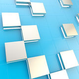 Abstract cube background techno wallpaper Royalty Free Stock Image