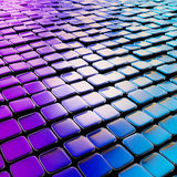 Abstract cube background techno wallpaper. Abstract cube background shiny glossy blue violet backdrop techno wallpaper Stock Images