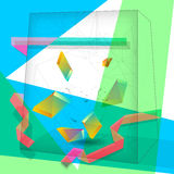 Abstract cube background Royalty Free Stock Image