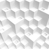 Abstract Cube Background. White Futuristic Wallpaper. 3d Illustration of Abstract Cube Background. White Futuristic Wallpaper Royalty Free Stock Photography