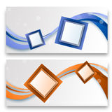 Abstract Cube Banners Stock Images