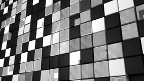 Abstract cube. Black and white Royalty Free Stock Photos