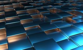 Abstract Cube Blocks Background 3d render.  royalty free illustration