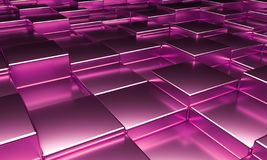 Abstract Cube Blocks Background 3d render.  stock illustration