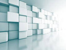 Abstract Cube Blocks Wall Background. 3d Render Illustration stock illustration