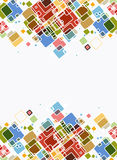 Abstract cube bright color background Royalty Free Stock Photo