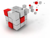 Abstract cube of business structure. And construction Stock Photo