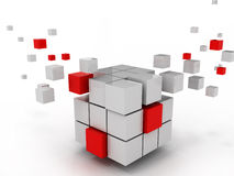Abstract cube of business structure. And construction Royalty Free Stock Photos