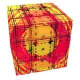 Abstract Cube with Child`s Face Royalty Free Stock Image