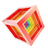 Abstract cube composition isolated on white background Royalty Free Stock Photography