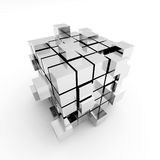 Abstract cube construction Stock Image