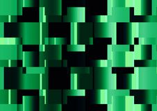 Abstract cube dark green color wallpaper Stock Image