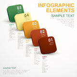 Abstract cube infographics Royalty Free Stock Photos