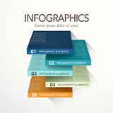 Abstract cube infographics Royalty Free Stock Photo