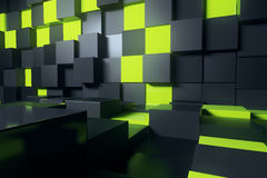 Abstract cube interior Stock Photos