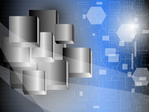 Abstract Cube Metal Background. EPS 10 Vector Royalty Free Stock Photo