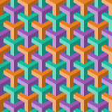 Abstract cube pattern. Abstract color cube seamless pattern Royalty Free Stock Photography