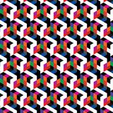 Abstract cube pattern. Colorful design, geometric 3d vector wallpaper, cube pattern background. Stock Photo