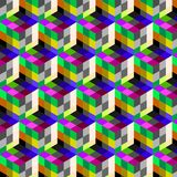 Abstract cube pattern. Colorful design, geometric 3d vector wallpaper, cube pattern background. Stock Photos