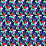 Abstract cube pattern. Colorful design, geometric 3d vector wallpaper, cube pattern background. Royalty Free Stock Images