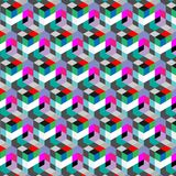 Abstract cube pattern. Colorful design, geometric 3d vector wallpaper, cube pattern background. Royalty Free Stock Photos