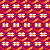 Abstract cube pattern. Colorful design, geometric 3d vector wallpaper, cube pattern background. Royalty Free Stock Photo