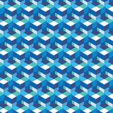 Abstract cube pattern. Colorful design, geometric 3d vector wallpaper, cube pattern background. Stock Image