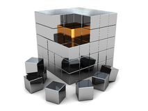 Abstract cube puzzle Stock Image