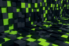 Abstract cube room Royalty Free Stock Images