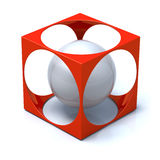 Abstract Cube and Sphere Stock Image