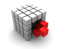 Abstract cube structure Stock Images