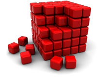 Abstract cube structure Royalty Free Stock Photo