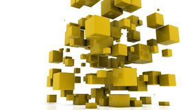 Abstract cubes royalty free illustration