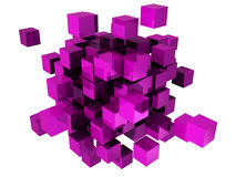 Abstract cubes. Abstract concept blocks illustration on white background royalty free illustration