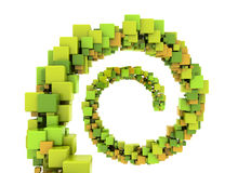 Abstract cubes stock illustration