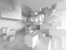Abstract Cubes Architecture Design Background. 3d Render Illustration Stock Image