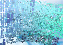 Abstract cubes background. Virtual world illustration made of hundreds of squares Royalty Free Stock Photography