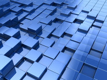 Abstract cubes background. Abstract 3d illustration of blue cubes background stock illustration