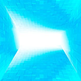 Abstract of cubes background in blue Stock Photo