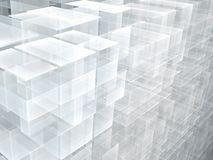Abstract cubes background - digitally generated image. Abstract cubes background - computer-generated 3d illustration. Digital art: pale wall of blocks vector illustration