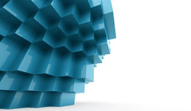 Abstract cubes background. Concept rendered Vector Illustration