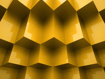 Abstract cubes background. Concept rendered Stock Images