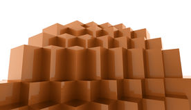 Abstract cubes background. Concept rendered Stock Photos