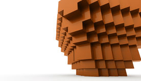 Abstract cubes background. Concept rendered Stock Illustration