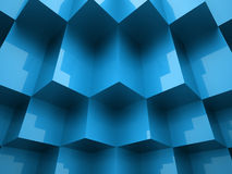 Abstract cubes background. Concept rendered Royalty Free Stock Image