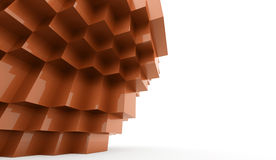 Abstract cubes background. Concept rendered Royalty Free Stock Photography