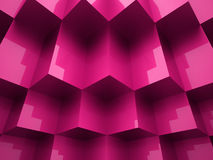 Abstract cubes background. Concept rendered Stock Photography