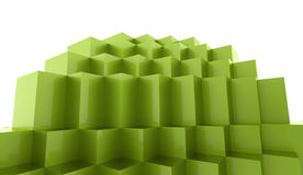 Abstract cubes background. Concept rendered Royalty Free Stock Photo