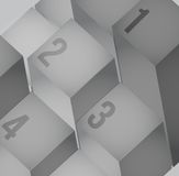 Abstract cubes background with copy spaces. Royalty Free Stock Photos