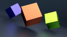Abstract cubes background. Abstract background with 3d cubes. 3d illustration Royalty Free Stock Photos